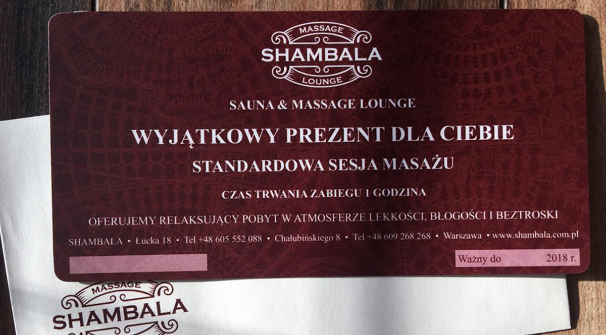 KARTY PODARUNKOWE SHAMBALA